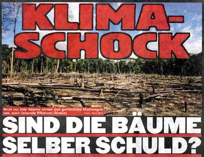 Klimaschock-Schlagzeile der Bild-Zeitung