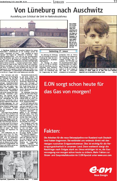 Landeszeitung Lüneburg vom 21.01.2006