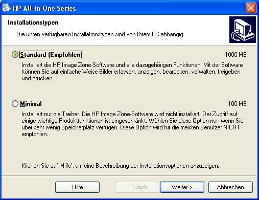 HP Druckerinstallation